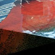 AkaFuji W600×D600×H150  冨嶽三十六景の「赤富士」を大胆にトリミングすることで、オリジナルの構図とは違った広がりを感じさせる